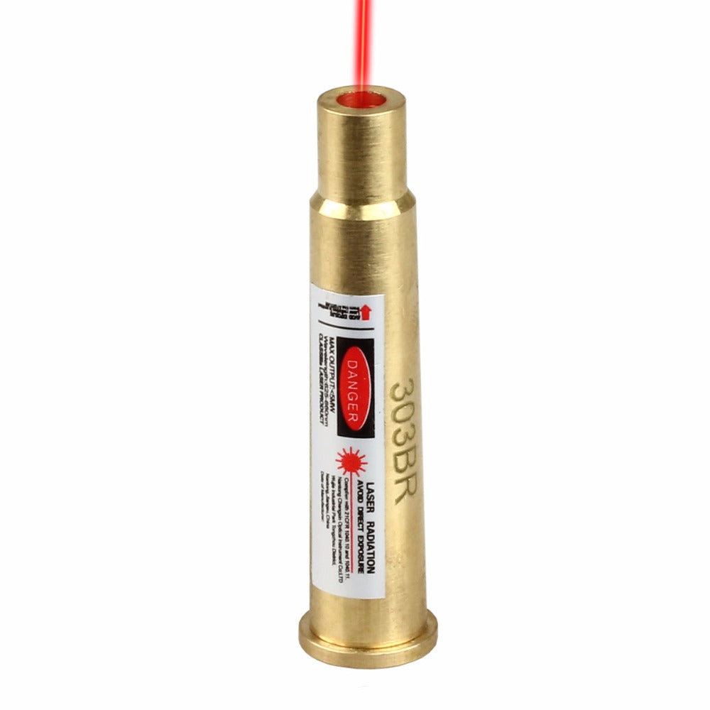 Costbuys  Red Laser Dot Bore Sighter 303BR Sight Boresight .303 Brass for Rifle Scope
