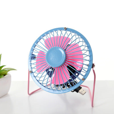 Costbuys  Various USB Fan Mini Portable Fans Table Desk Personal Black Blue Green Gadgets For Notebook Laptop usb Gadget - Light