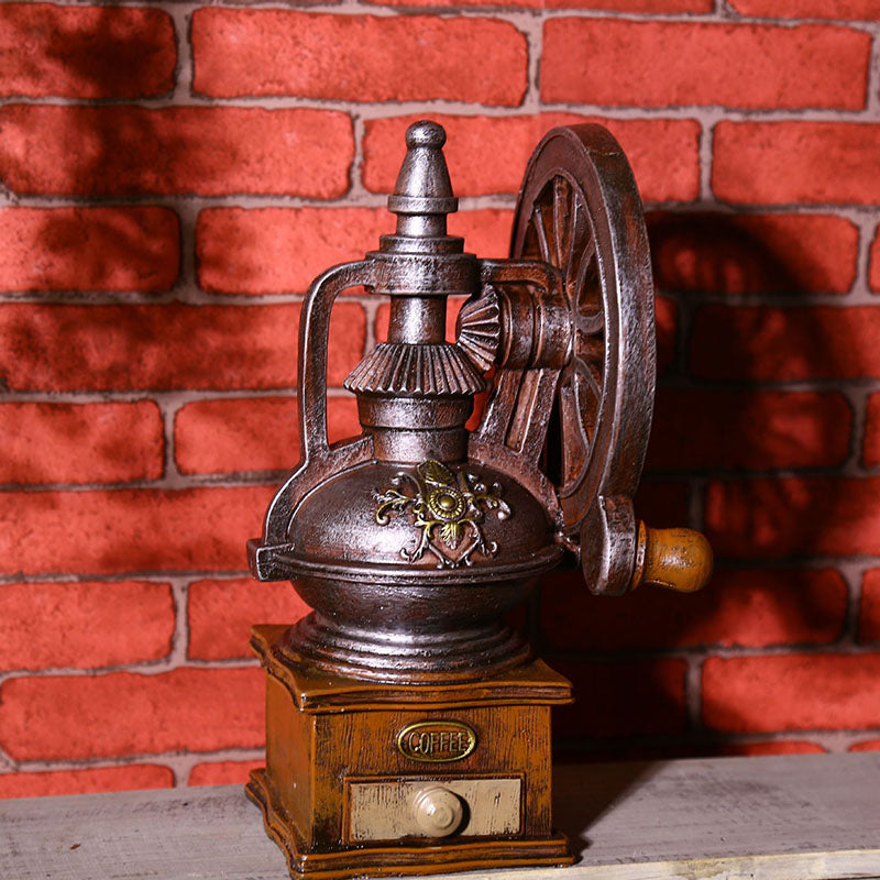Costbuys  Vintage Coffee Machine Photography Props Resin New Year Decor Craft Ornaments Bar Coffee Home Decoration Figurines Min