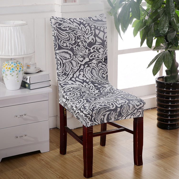 Costbuys  Vintage Dining Room Universal Chair Cover Stretch Spandex Polyester Chair Case Protector Anti-dirty Seat Covers For Of
