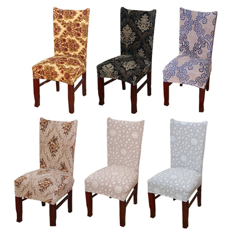 (10pieces/lot) Gold Stamping Chair Sash Band Stretch Spandex Chair Cover with Ring for Wedding Party Chirstmas Chair Decoration