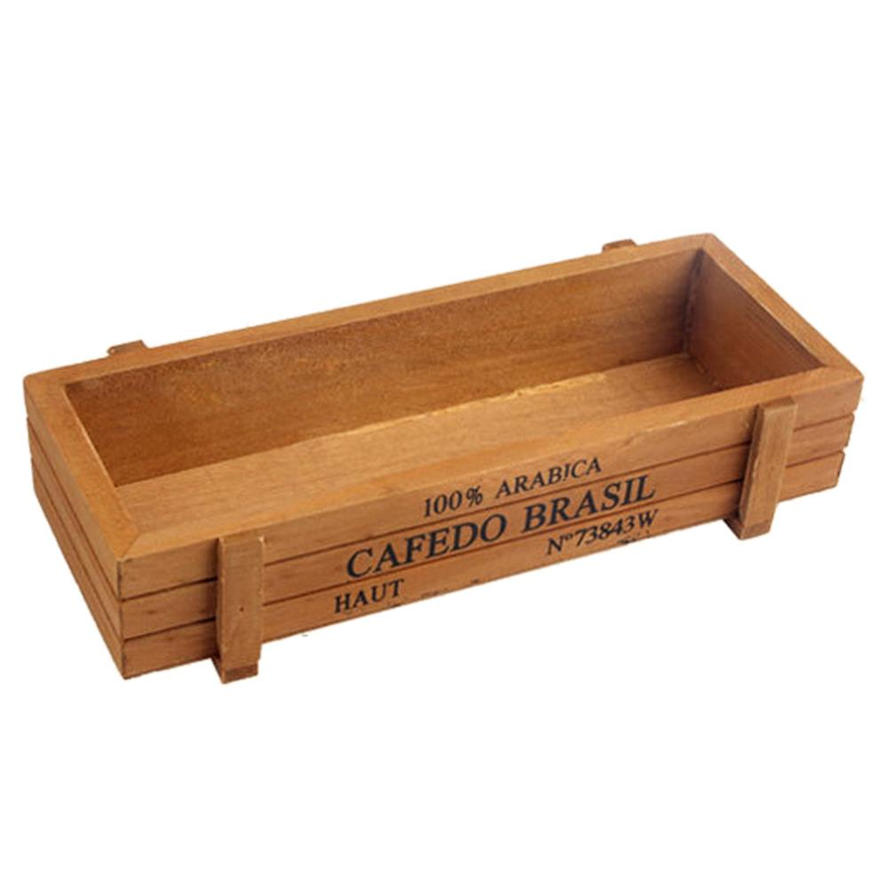 Costbuys  Vintage Garden Supplies Wooden Garden Planter Window Box Trough Pot Succulent Flower Bed Plant Bed Pot for Living Room