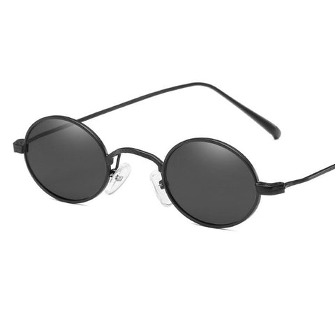 aab427b8a9 Vintage Small Oval Sunglasses for Women Men Retro Metal Frame Yellow Red  Round Sun Glasses for Ladies Eyewear UV400