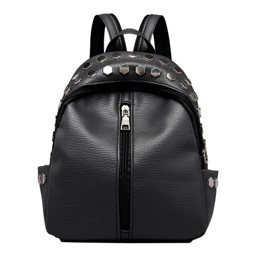Costbuys  Vintage Women's Bag New Fashion Backpacks Satchel Travel School Rucksack Bag Rivets Leather backpacks for teenage girl