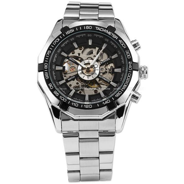 540d08193 Automatic Watch Men's Classic Transparent Skeleton Mechanical Watches –  Costbuys