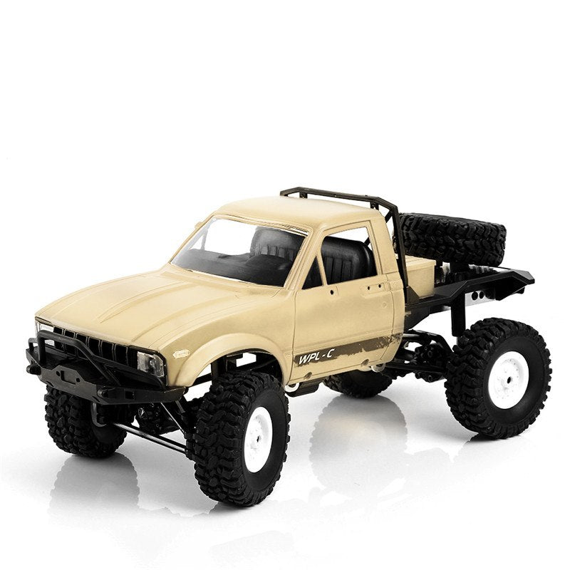 Costbuys  C14 1:16 2CH 4WD Children RC Truck 2.4G Off-Road Truck Electric RC Car 15km/H Top Speed RTR/KIT Mini Racing Car Toy -