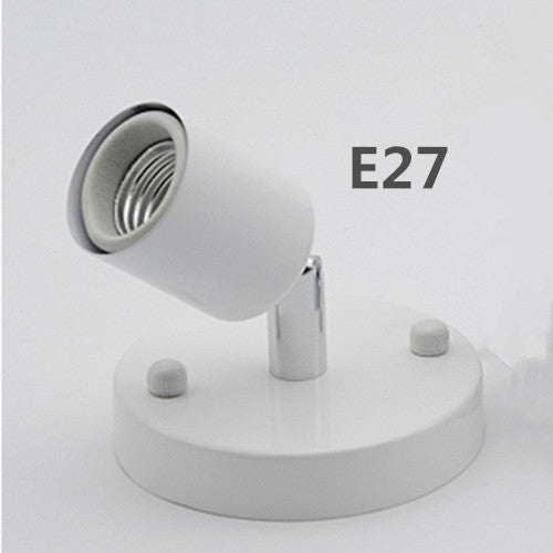 Costbuys  Wall Mounted Rotatable E27 / E14 lamp holder Bedroom Dinning Room Bar lighting accessories led lamp base parts - H / E