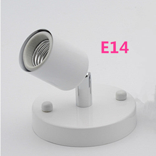 Costbuys  Wall Mounted Rotatable E27 / E14 lamp holder Bedroom Dinning Room Bar lighting accessories led lamp base parts - G / E