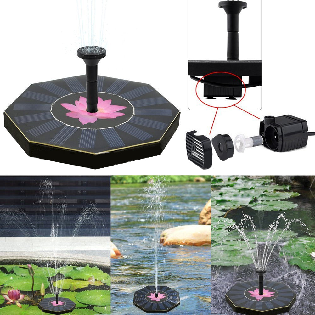 Costbuys  Water Floating Pump Solar Power Fountain Pool Garden Plant Watering Solar Power Fountain Pool Garden Supplies