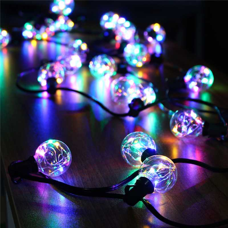 Waterproof 18Ft G40 Globe LED String Lights Indoor Outdoor LED Fairy Lights Bulbs Holiday Light for Christmas Wedding Decoration