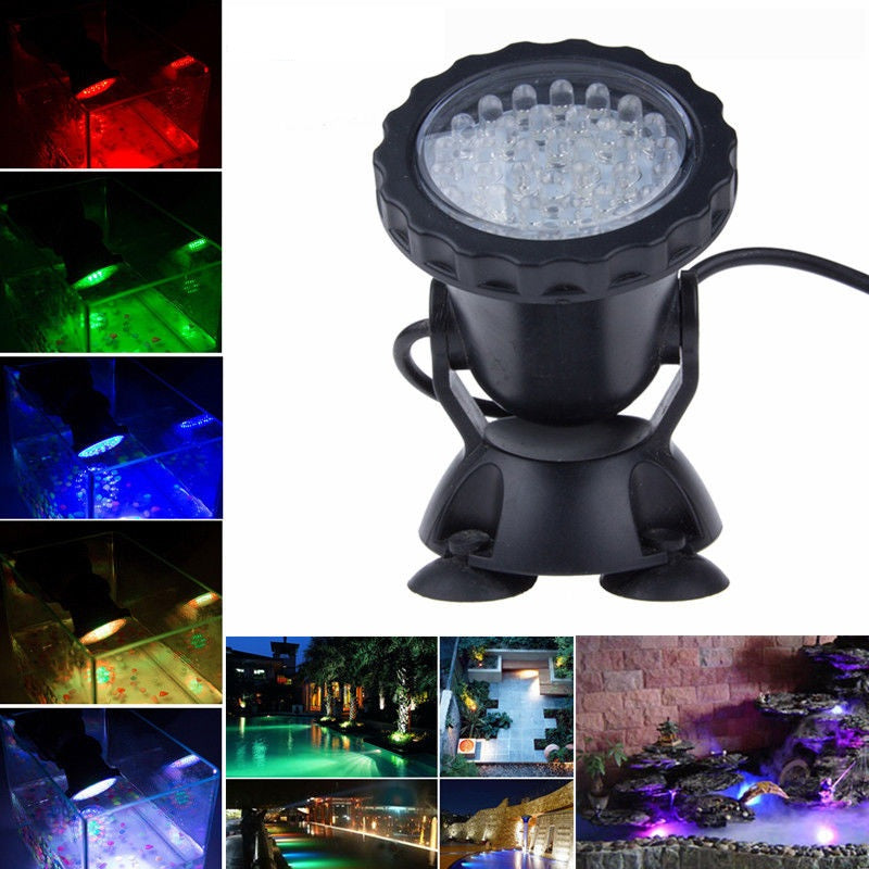 Costbuys  Waterproof IP68 RGB 36 LED Underwater Spot Light For Swimming Pool Fountains Pond Water Garden Aquarium Fish Tank Spot