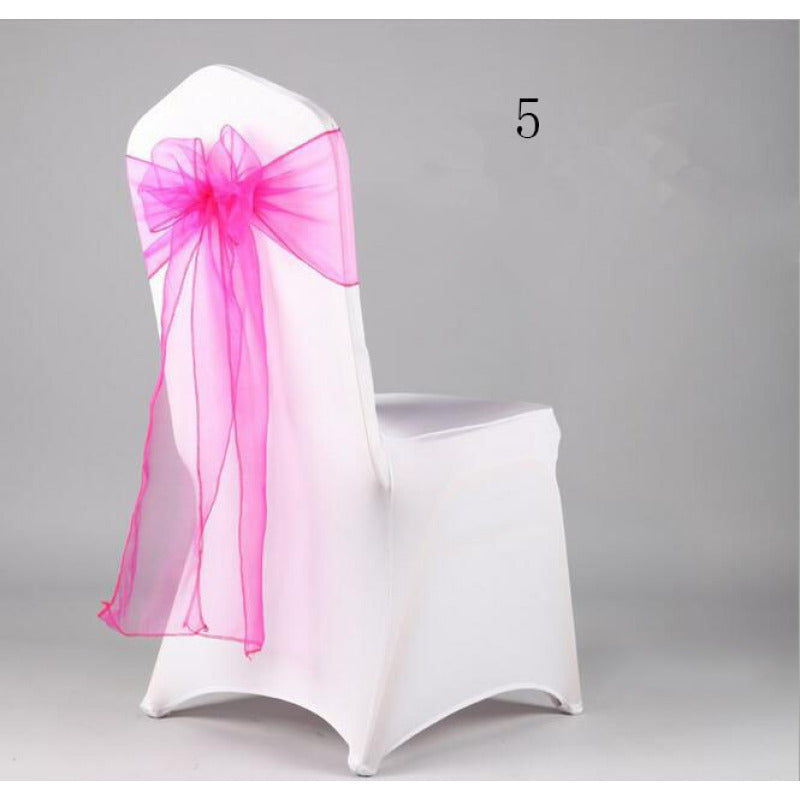 Costbuys  Wedding Organza Chair Cover Sashes Sash Party Banquet Decor Bow hot Colors Home and Kitchen 35 - Light Grey