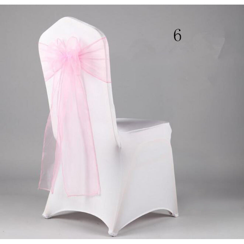 Costbuys  Wedding Organza Chair Cover Sashes Sash Party Banquet Decor Bow hot Colors Home and Kitchen 35 - Light Green