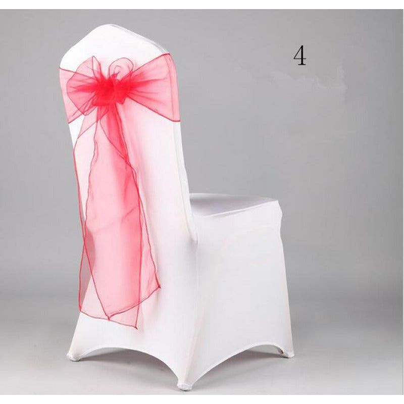 Costbuys  Wedding Organza Chair Cover Sashes Sash Party Banquet Decor Bow hot Colors Home and Kitchen 35 - Mint Green