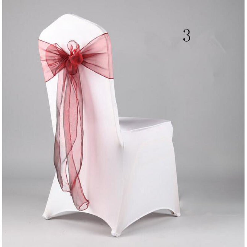 Costbuys  Wedding Organza Chair Cover Sashes Sash Party Banquet Decor Bow hot Colors Home and Kitchen 35 - Olive