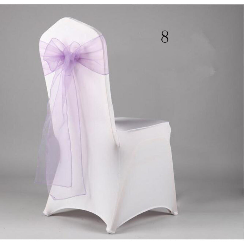 Costbuys  Wedding Organza Chair Cover Sashes Sash Party Banquet Decor Bow hot Colors Home and Kitchen 35 - Dark Khaki