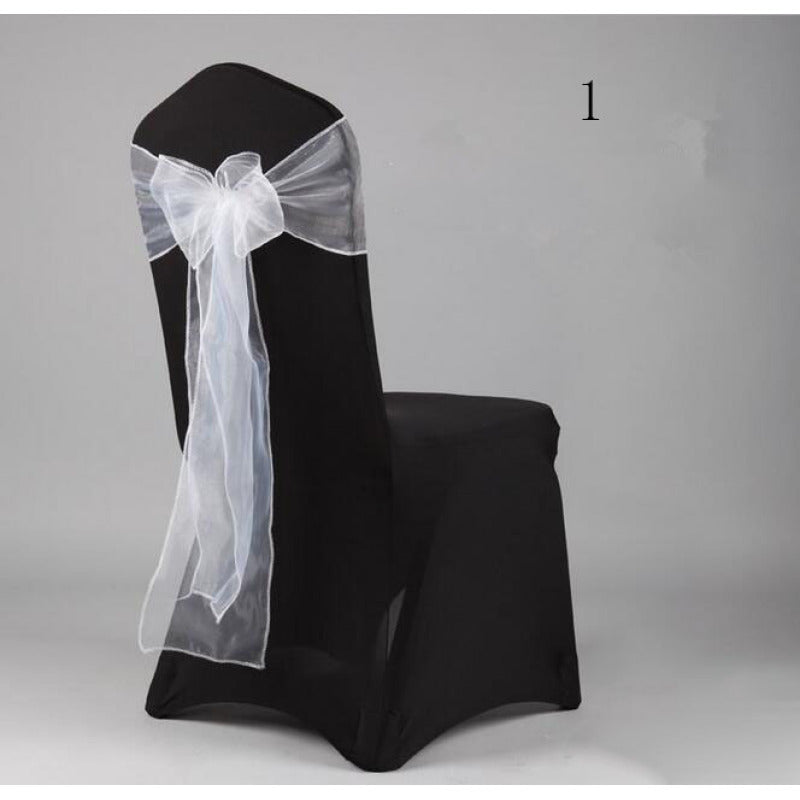 Costbuys  Wedding Organza Chair Cover Sashes Sash Party Banquet Decor Bow hot Colors Home and Kitchen 35 - Deep Sapphire