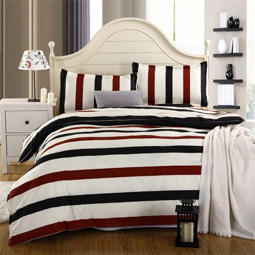 Costbuys  Wedding favors and gifts bedspread 4PCS Bedding Set King quee full Bed Sets Quilt Wedding Sheet Pillow Cover - Black /