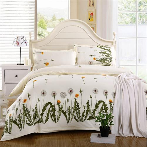 Costbuys  Wedding favors and gifts bedspread 4PCS Bedding Set King quee full Bed Sets Quilt Wedding Sheet Pillow Cover - Green /