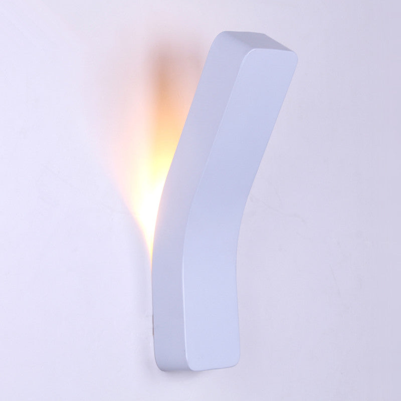Costbuys  White 4W LED Wall Light New Modern Sconce AC85-265V Wall Mounted Lamp Black Bedside Lampada Iron Indoor Home Lighting