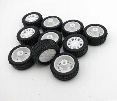 Costbuys  Wholesale - 20 * 8 * 1.9MMM hollow rubber tires remote control toy car wheels DIY model accessories