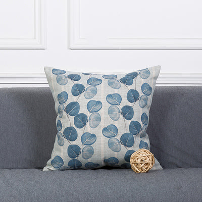 Costbuys  Wholesales Pillow Cover Vintage Blue Leaves Plant Floral  Cushion Cover Home Decorative Pillow Case 45x45cm/30x50cm -