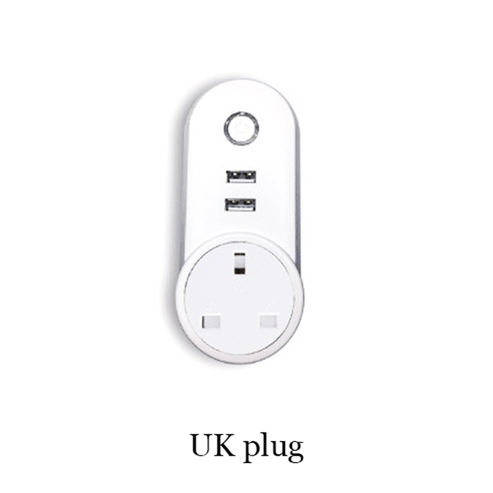 Costbuys  Wifi USB Smart EU US UK Power Socket  APP for Remote Control Socket Phone App for IOS Android - UK plug