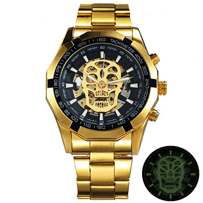 Costbuys  Watch Men Skeleton Automatic Mechanical Watch Gold Skeleton Vintage Man Watch Mens Watch Top Brand Luxury - UPGRADE GO