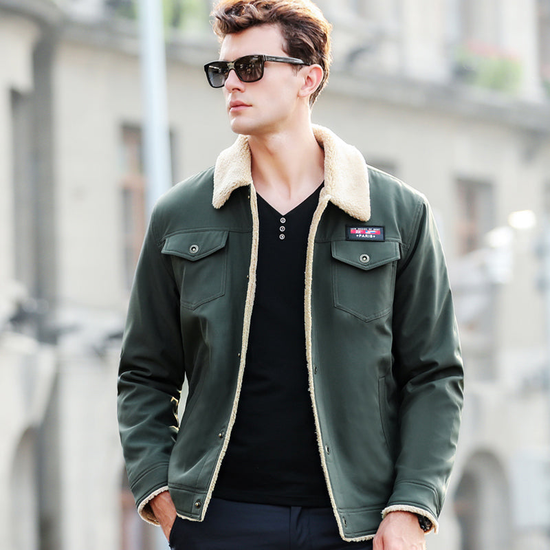 980101be0 Winter Bomber Jacket Men Air Force Pilot Jacket Warm Male fur collar Army  Jacket tactical Mens Jacket Size M-4XL Thick winter