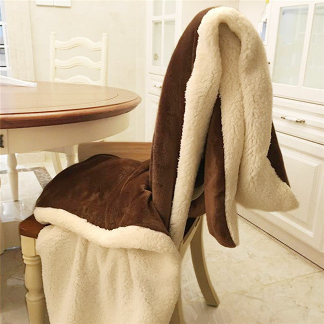 Winter Wool Blanket Ferret Cashmere Blanket Warm Blankets Fleece Plaid  Super Warm Soft Throw On Sofa Bed 7A0808