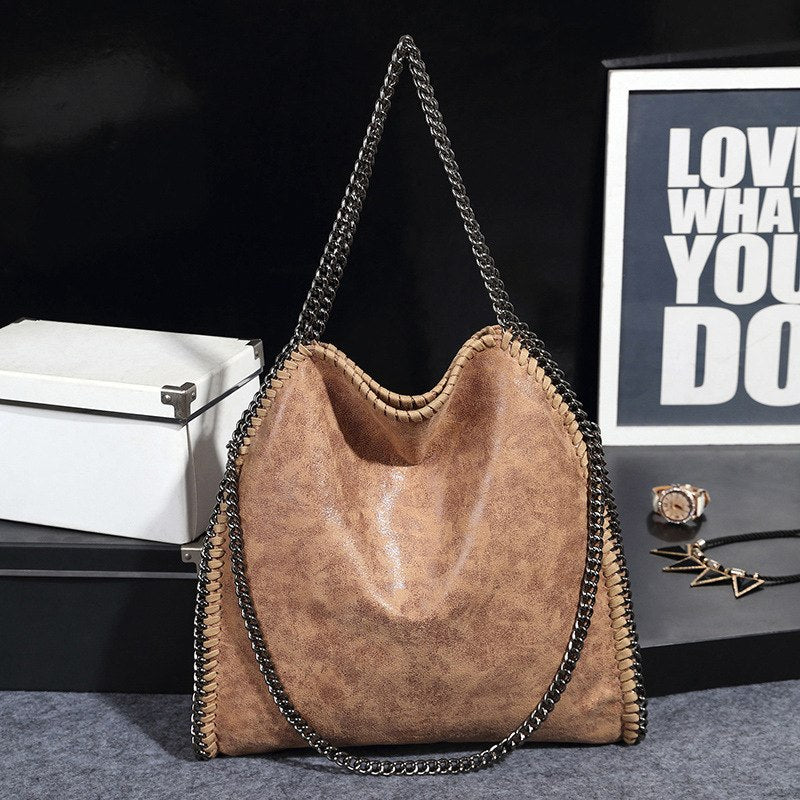 Costbuys  Woman Bags Bag Handbag Fashion Handbags Chains Shoulder Bag PU Leather Large High Quality Top-Handle Bags Female Bolsa