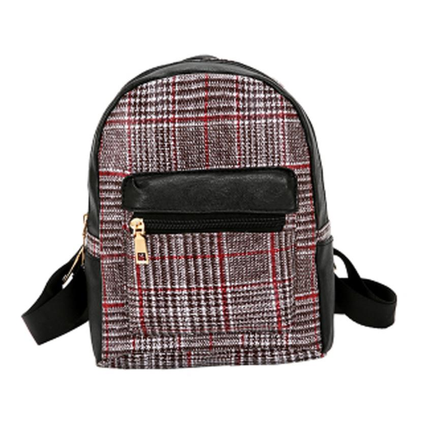 Costbuys  Women Backpack High Quality Travel Shoulder Bag Mini Backpacks Schoolbags for Teenage - C / China