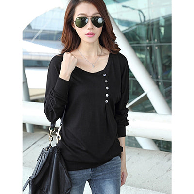 Costbuys  Women Blouses Autumn Pink Lace Patchwork Long Sleeve Women Shirt Elegant Ladies Office Wear Top Blouse - black / S