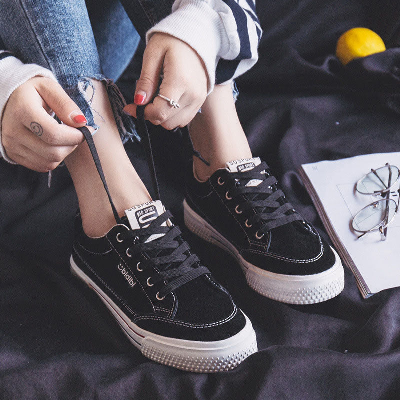 Costbuys  Women Casual Shoes Brown Sneakers for Female Lace Up Classic Design Black Shoes Students Ins Fashion Trends New 35-40