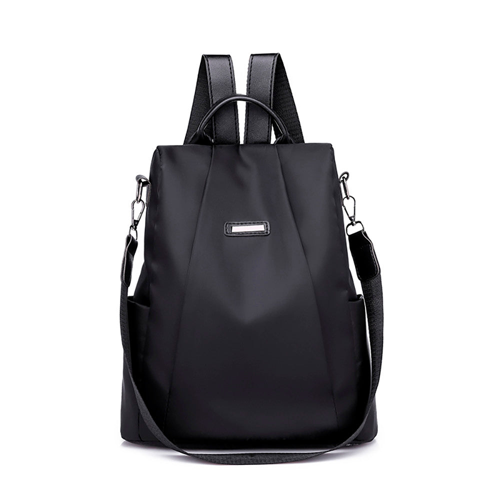 Costbuys  Women Female travel backpack travel bag anti-theft Oxford cloth backpack Simple Style Backpack - Black / China