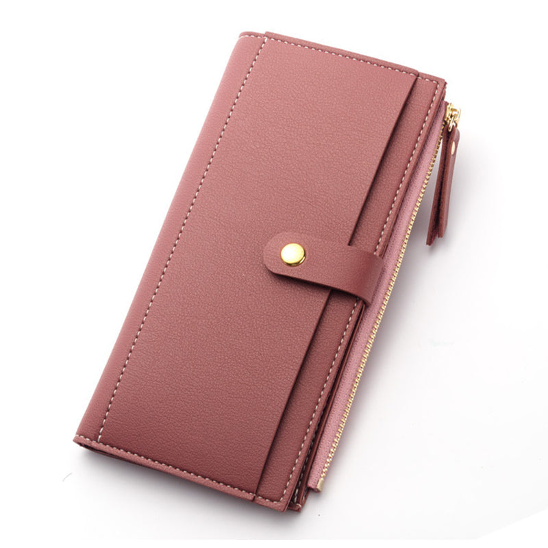 Costbuys  Women Wallet Fashion Purse high quality soft leather purse long card holders money bag female wallet big capacity - Ro