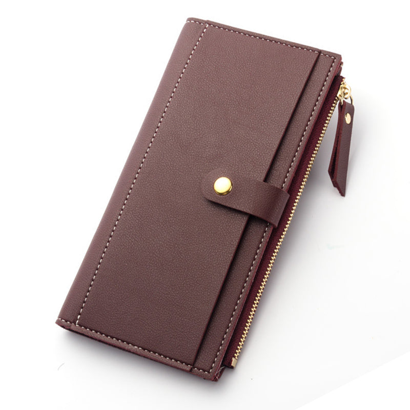 Costbuys  Women Wallet Fashion Purse high quality soft leather purse long card holders money bag female wallet big capacity - Wi