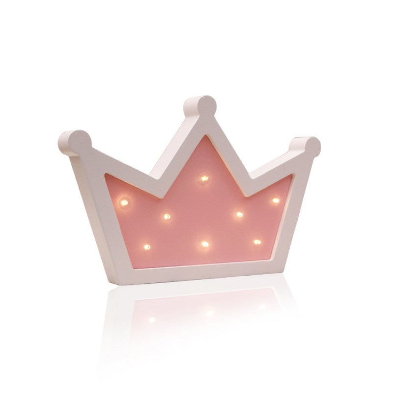Costbuys  Wooden Crown Led Night Light Baby Children Kids Gift Table Lamp pendant wall Hanging lamp Bedside Bedroom Decorative I