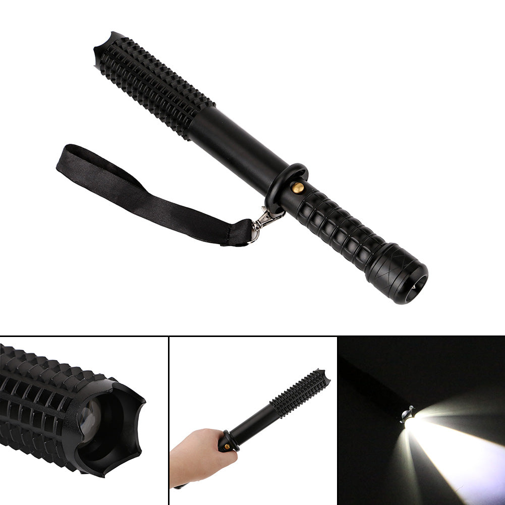 Costbuys  XML-T6 LED Tactical Flashlight 3800LM Zoomable Self Defense Led Flashlight 18650 Rechargeable Battery or 3 AAA Battery