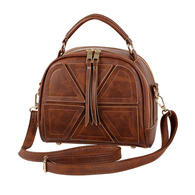 Costbuys  new vintage casual patchwork women flap hotsale ladies shopping handbag small shoulder messenger crossbody bags - Brow