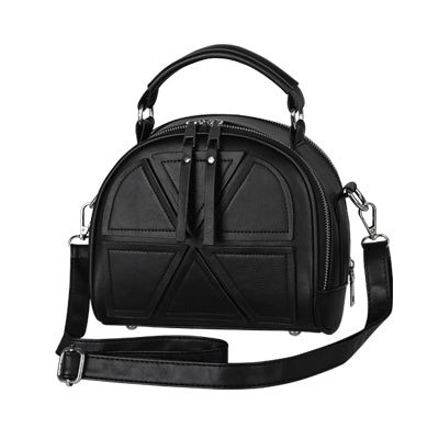 Costbuys  new vintage casual patchwork women flap hotsale ladies shopping handbag small shoulder messenger crossbody bags - Blac