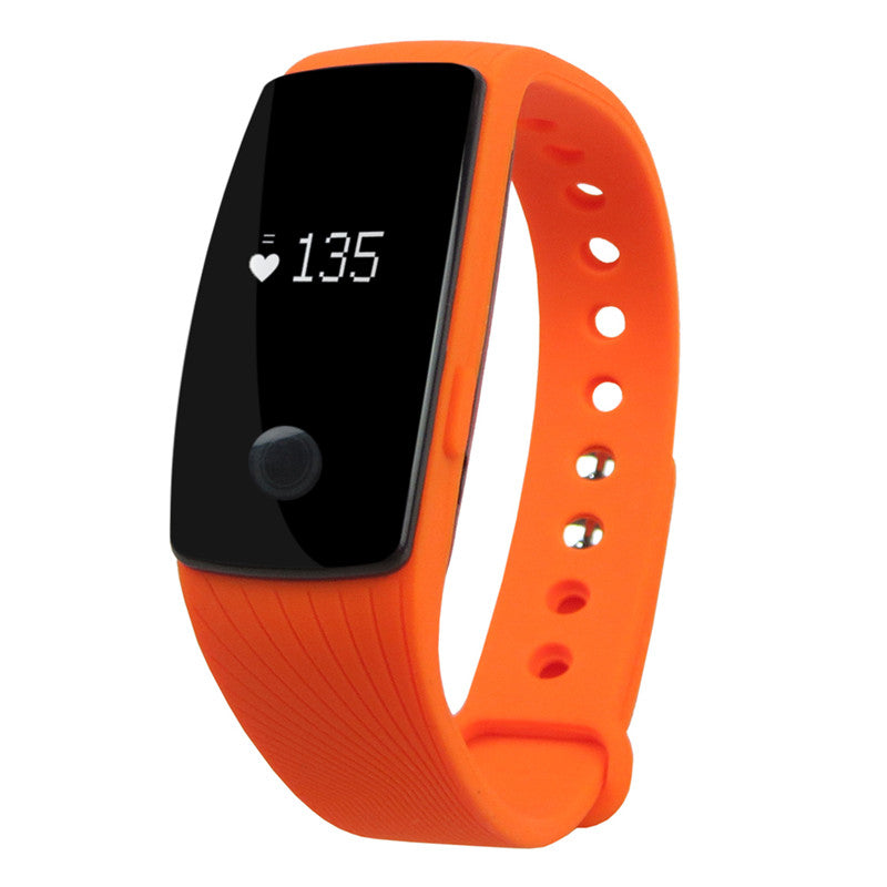 Costbuys  Smart Watch Bluetooth Heart Rate Monitor Pedometer Sport Fitness Tracker Watch Gift Men Women for Smartphone - Orange