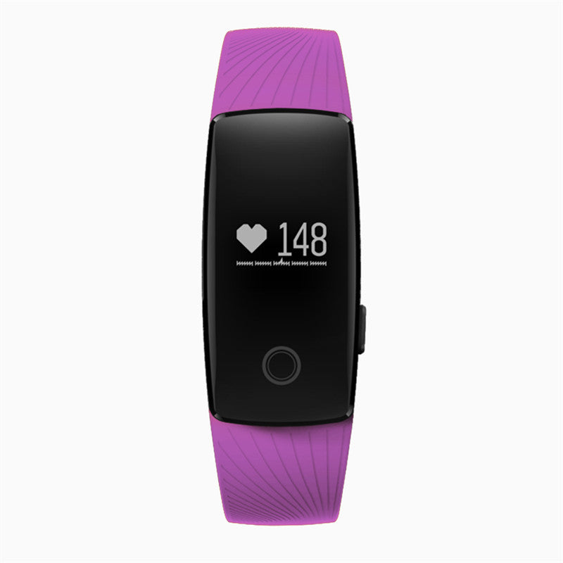 Costbuys  Smart Watch Bluetooth Heart Rate Monitor Pedometer Sport Fitness Tracker Watch Gift Men Women for Smartphone - Purple