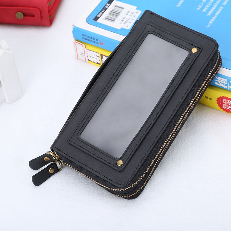 Costbuys  Mobile Phone Case For iPhone 5 6 7 8 Plus X Mobile Phone Shell Multi Functional Zipper Bag Cell Phone Sets Accessories