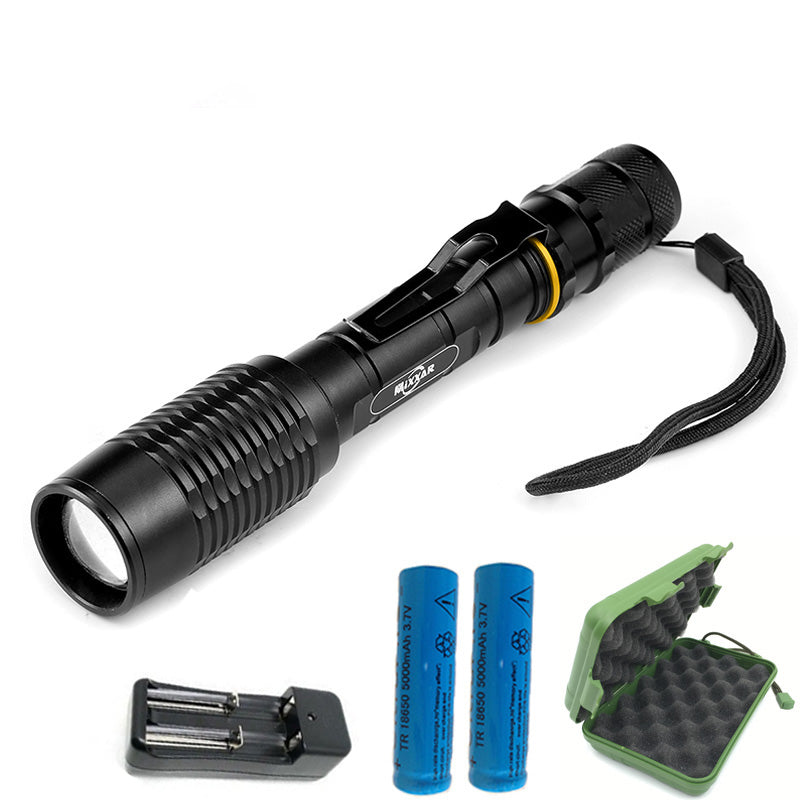 Costbuys  ZK20 Portable LED Camping Hunting Lamp Light Torch Lanternas Powerful Waterproof LED Military Police Flashlight Lamp T