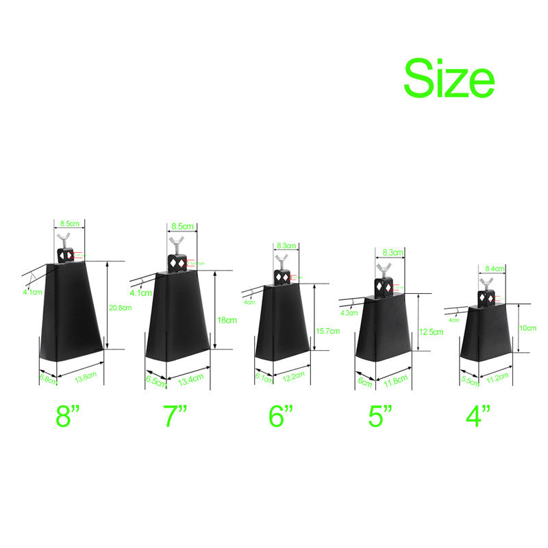 Costbuys  Zebra  3-8Inch Drum Cowbell Metal Professional Drums Percussion Latin Music Knocker Percussion Instrument Boll  Rack A