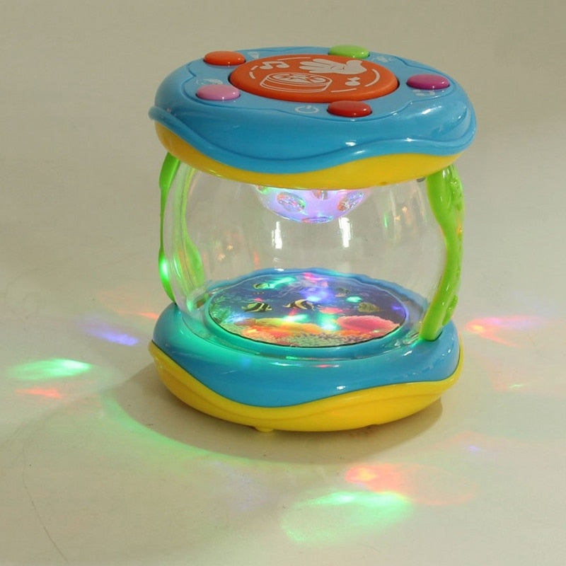 Costbuys  9x9.5cm Roll Drum Music Instruments  Colorful Music Drum Kids Children Baby LED Toy