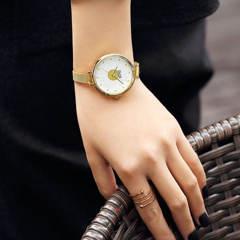 1PC Leather Strap Braided winding Rivet Bracelet Watches Wristwatch
