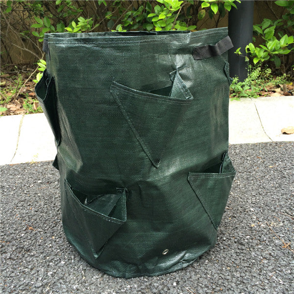 Costbuys  garden supplies PE/fabric Strawberry Planting Bag Garden Gardening Planting bags 8 Pockets - 10