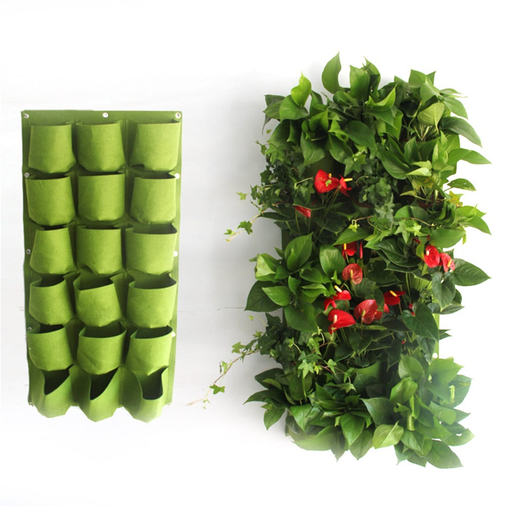 Costbuys  garden supplies hanging nursery bags plant grow bags for greenhouse plant grow bag wall flowers pot hanger 18 & 72 poc